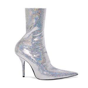 Balenciaga, 41, sequin knife sock boots